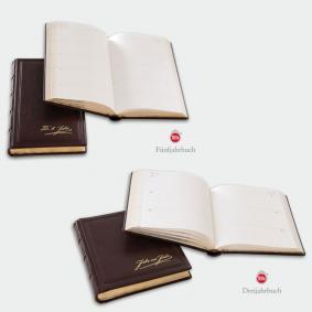 Drei- oder Fünfjahrbuch (Goldschnitt mit gestichelter Schnitt-Schmuckziselierung)