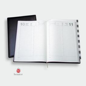 Ersatzkalender für Senator mit Lederhülle
